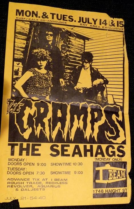 Cramps flyer - I Beam copy