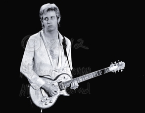 The late, great James Honeyman-Scott soloing, or rhythm-riffing here on a Zemaitis guitar, with that trademark etched, metal face