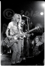 Kim Gordon & Thurston Moore behind bright lights [Sonic Youth - I Beam, SF 7-7-86]