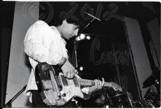 Lee Renaldo & taped Fender [Sonic Youth - I Beam, SF 7-7-86]