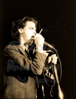 Nick Cave ciggie & eyes closed [Nick Cave & The Bad Seeds - I Beam, SF 1-28-86]