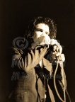 Nick Cave firm grip on mic [Nick Cave & The Bad Seeds - I Beam, SF 10-28-86]