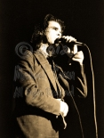 Nick Cave gazes ahead [Nick Cave & The Bad Seeds - I Beam, SF 10-28-86]