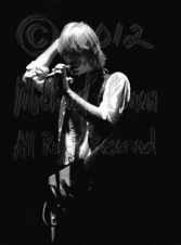 Tom Petty & Flying V eyes closed hand on mike [TP and the Heartbreakers - Louisville Memorial Auditorium 9-20-78]