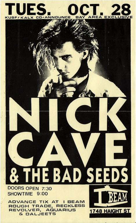 Nick Cave & Bad Seeds flyer - I Beam copy