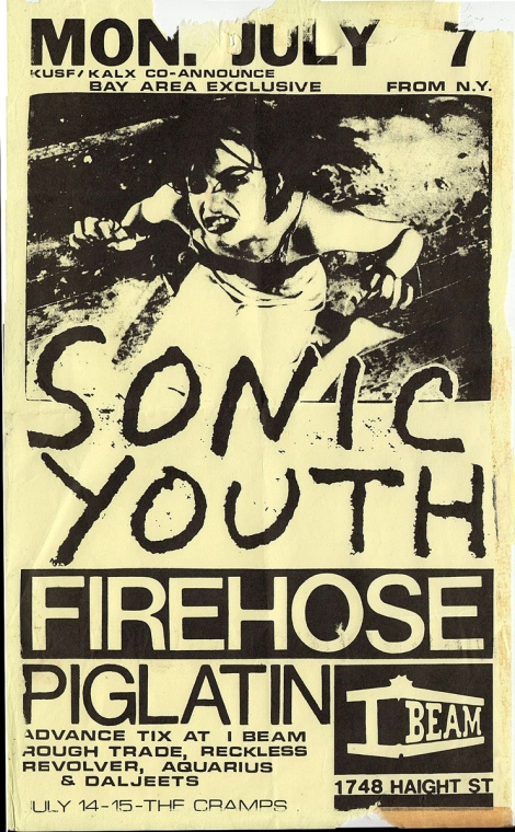 Sonic Youth flyer - I Beam copy