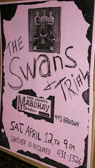 The Swans & Trial at the Mab poster, as supplied by Marco [December, 2017]