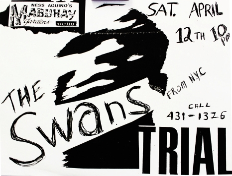 The Swans & Trial at the Mab flyer, as supplied by Marco [December, 2017]