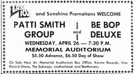 concert-ad-patti-smith-at-memorial-auditorium-4-26-78
