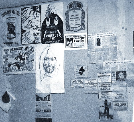 Michael Conen - Flyers on bedroom wall circa '72