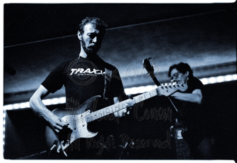 One of my favorite images of Richard Thompson, on his old Fender Stratocaster, with Pete Zorn in the background