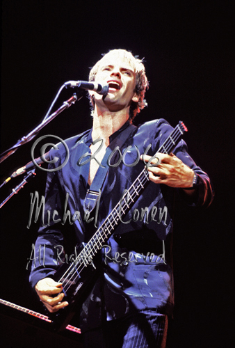 The other very nice image of Sting from this show