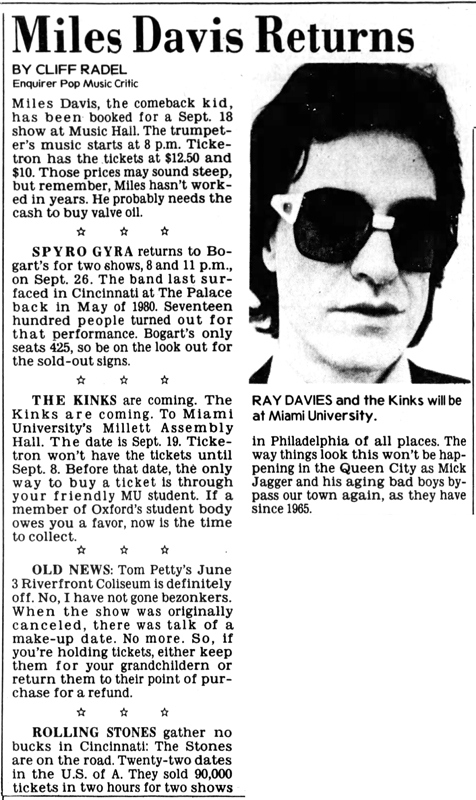 the-kinks-are-coming-uc-miami-9-1-81
