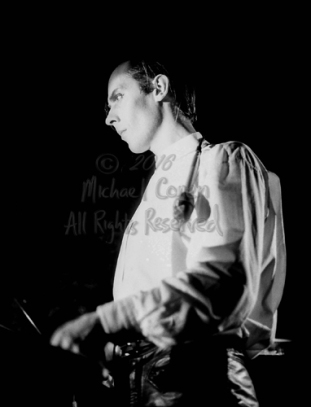 "Peter Murphy The I Beam San Francisco, California 3-3-87 These photos were taken on print film, and then digitally scanned at 2000 dpi. All images viewed here are ""proofs"" of the negatives. Serious inquiries regarding further publication will be entertained. Please contact me with comments, questions, etc. at michaelconen@tutanota.com Peter Murphy; I Beam; San Francisco; California; 3-3-87; Any further use requires permission from the photographer; Michael Conen."