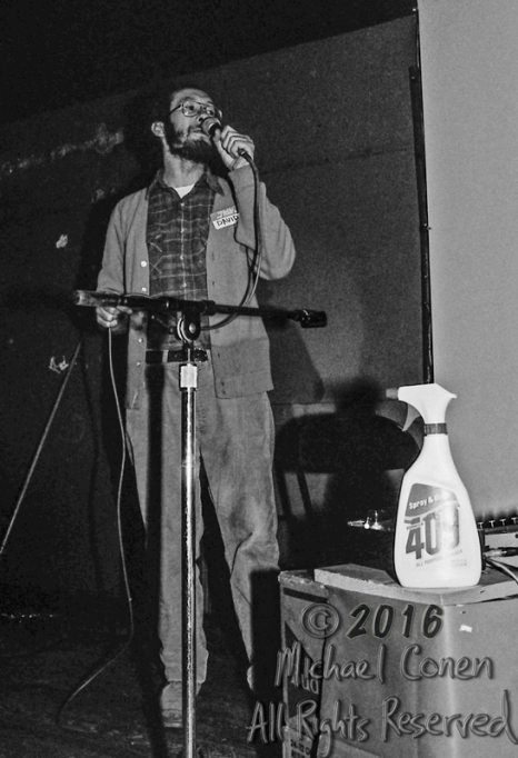 "Negativland The I-Beam San Francisco, California 3-10-86 Negativland; The I-Beam; San Francisco; California; 4-26-78; Any further use requires permission from the photographer; Michael Conen. *** These photos were taken on print film, and then digitally scanned at 2000 dpi. All images viewed here are ""proofs"" of the negatives. Serious inquiries regarding further publication will be entertained. Please contact me with comments, questions, etc. at michaelconen@tutanota.com"