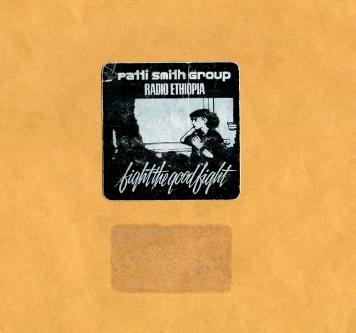 Patti Smith Group - folder label