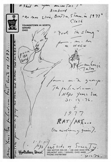 Patti Smith - Palladium NYE '76-'77 flyer