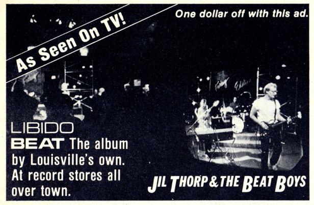 Jil Thorp - Libido Beat ad - MainStreet [June 1982]