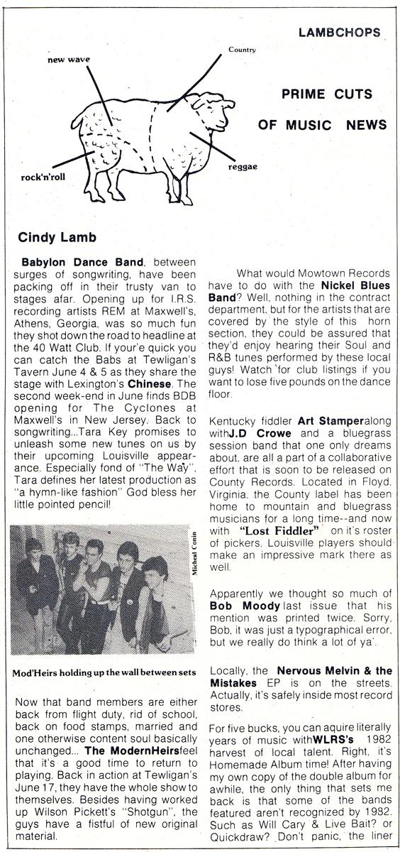 Lamb Chops - MainStreet [June 1982]