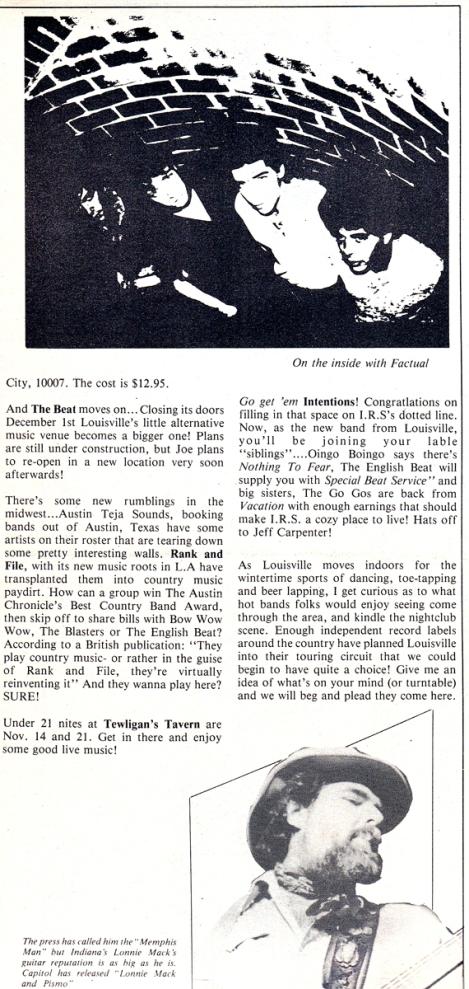 Lamb Chops - MainStreet pg 2 [Nov 1982]