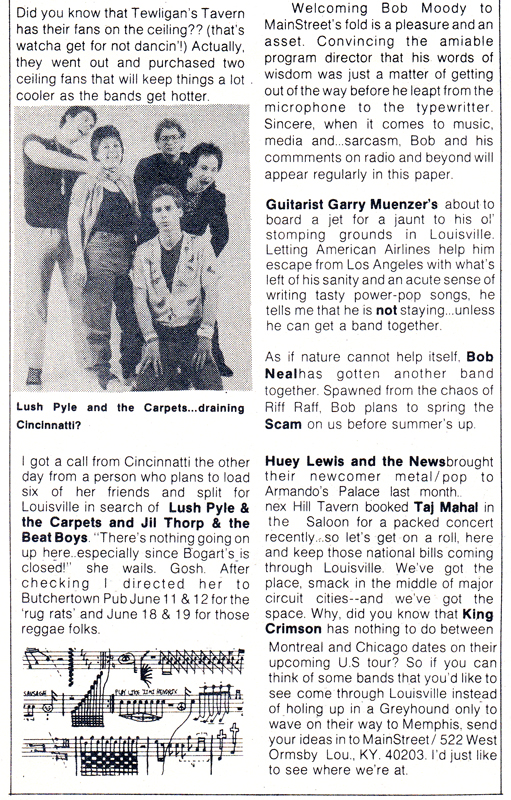 Lamb Chops on Lush Pyle & Carpets - MainStreet [June 1982]