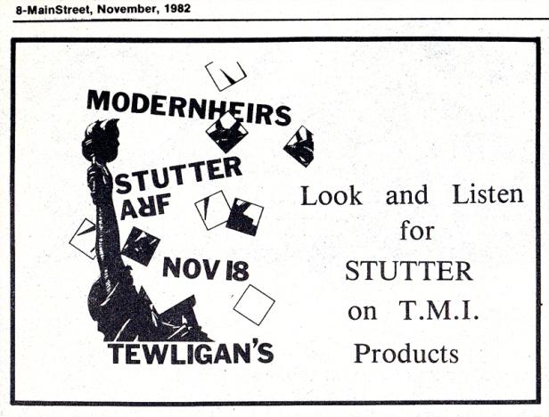 Modern Heirs ad - MainStreet [Nov 1982]