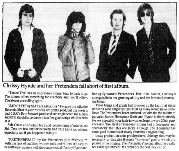 Pretenders article Clarion_Ledger_Sun__Oct_11__1981_ copy