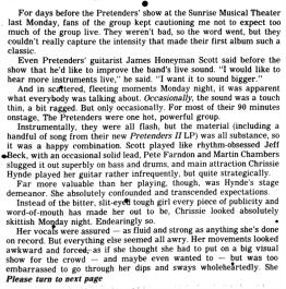 Pretenders article pt 1 Fort_Lauderdale_News_Fri__Aug_14__1981_ copy