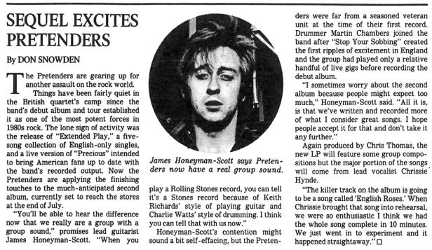 Pretenders article The_Los_Angeles_Times_Sun__Jun_21__1981_ copy