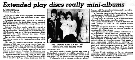Pretenders EP review Journal_and_Courier_Thu__Jun_4__1981_ copy