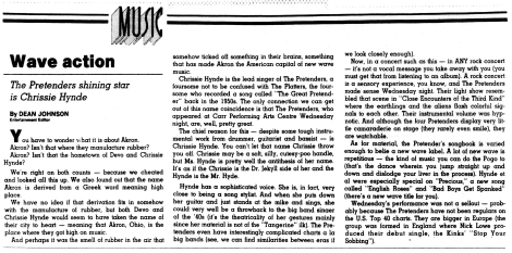 Pretenders Live Review The_Orlando_Sentinel_Fri__Aug_14__1981_ copy