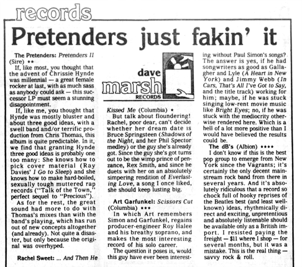 Pretenders review The_Greenville_News_Sun__Oct_4__1981_ copy