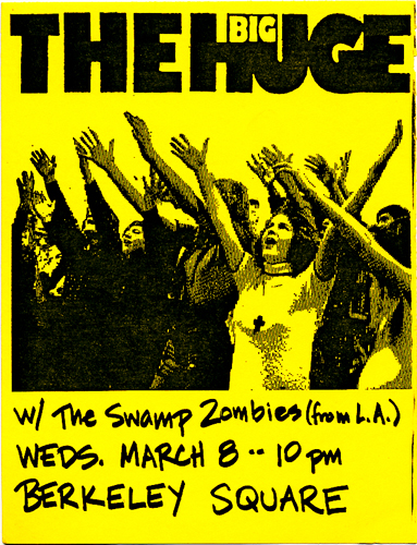 big huge flyers - with the swamp zombies [b2 march 8 1989]sm