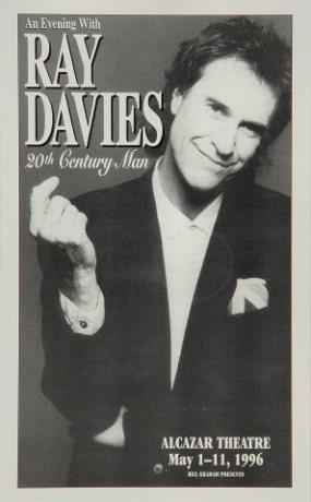 ray davies - alcazar handbill poster