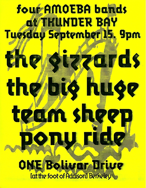 the big huge - with team sheep, pony ride, the gizzards at thunder bay [9-15-92]
