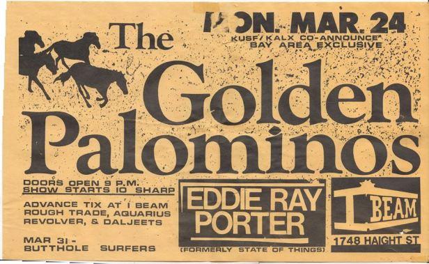 Golden Palominos - IBeam flyer