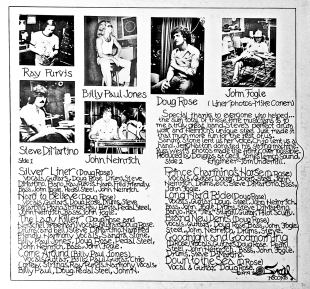 Back cover of Doug Rose's self-titled lp [1979]