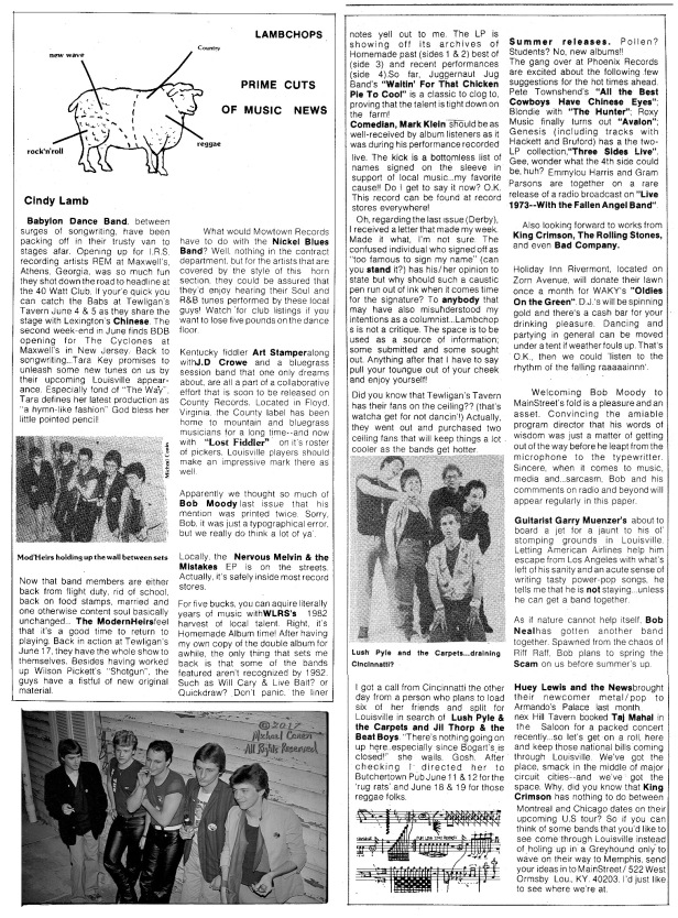 Lamb Chops column with Modernheirs pic