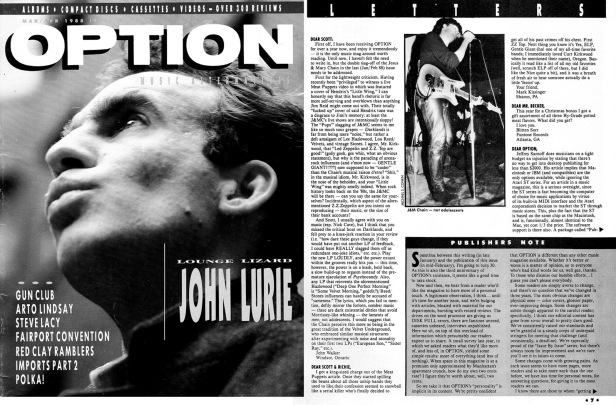 Option [March April 1988] with JAMC