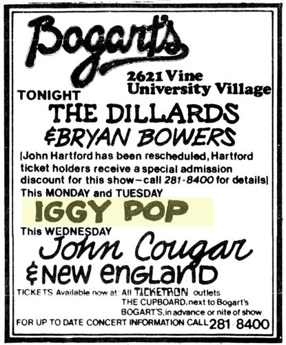 Iggy Pop at Bogart's AD_Nov_29__1980