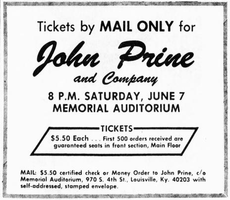 John Prine Ad LG May_11__1975