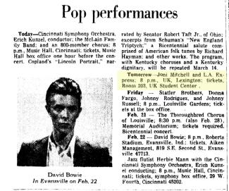 Joni Mitchell in Lexington KY Feb_8__1976