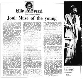 Joni Mitchell Lexington Show Review Feb_11__1976