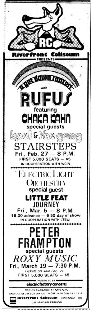 Little Feat & ELO ad plus more -Cincinnati_Enquirer_Sun__Feb_15__1976
